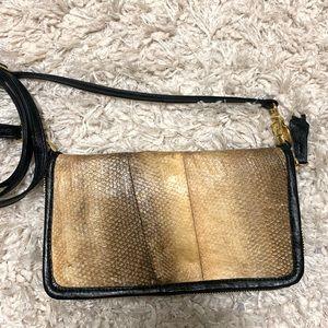 RARE Alaskan salmon leather purse